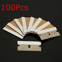 100шт стали одной кромки лезвия бритвы для соскабливания подстройка резки бумаги пластиковый стакан