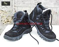 Зимние тактические ботинки (треккинг). Нубук+кордура. Новые., фото 1