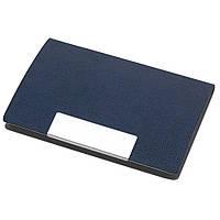 Визитница карманная, кожзам, магнитная застёжка, синяя
