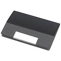 Визитница карманная, кожзам, магнитная застёжка, черная, от 10 шт