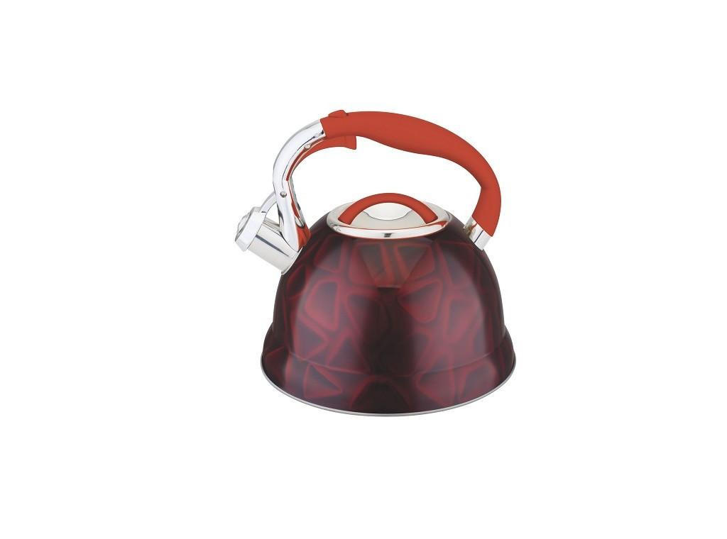 Чайник с нержавеющей стали со свистком 3D корпус многослойное дно 3.0 л Edenberg  EB-1911