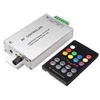 18 ключа музыкальный аудио контроллер 3 канала 12а РФ беспроводной пульт дистанционного DC12V-24v для RGB полосы света