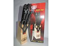 """Набор ножей на деревянной подставке 7 предметов """"Корона"""" KA-TD-701"""