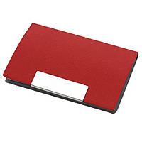 Визитница карманная, кожзам, магнитная застёжка, красная