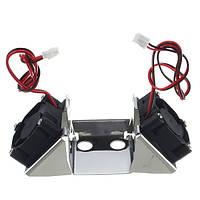 Детали 3D-принтера из нержавеющей стали с двумя вентиляторами с вентиляторами 3010
