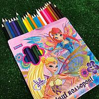 Цветные карандаши 24 цвета Фея