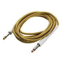 3m гитарный кабель желтый плетеный шнур твид провод для бас-гитары