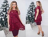 Женское платье двойка большого размера  +цвета, фото 1