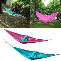 Открытый двойной человек гамак качели кровать портативный парашют путешествия кемпинга 260cm х 140см