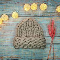 Шапка хельсинки, Шапка из толстой пряжи, Обьемная шапка, Вязанная шапка, Женская шапка крупной вязки