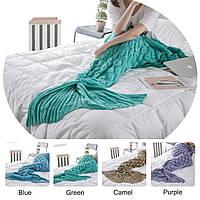 Honana WX-39 90x190cm пряжи Вязание хвост русалки Одеяло рыбья чешуя Стиль Super Soft Sleep Bag Bed Mat