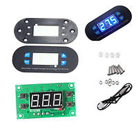 DC12V-w2308 XD цифровой термостат регулятор температуры Регулируемый датчик метр синий LED