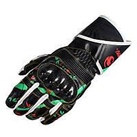Универсальные Skidproof печатные кожаные перчатки полный палец для езды на велосипеде гоночной езды на велосипеде