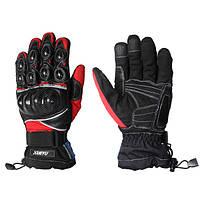 Теплые полные пальцев кожаные перчатки для верховой езды вождения гоночных