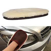 Овечьей шерсти автомойки Mitt перчатка супер мягкий воск овечьей авто мойка инструмент