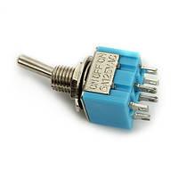 6 штырьков тумблер коромысла включения / выключения / на DPDT 10шт 6A wendao мтс-203 переменного тока 125V