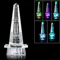 Романтический кристалл Эйфелева башня LED настольный декор подарок спальня стол лампа ночь свет