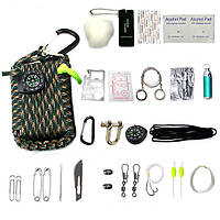 22 in1 многофункциональные инструменты аварийный комплект выживания на открытом воздухе рыбалки парашют шнур первой помощи выживания