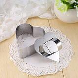 Сервировочная квадратная кулинарная форма с прессом  Мousse mold, фото 8
