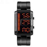 Мужской водонепроницаемый спорт LED электронные часы стальной полосы случайные часы моды