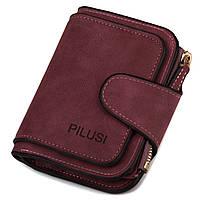 Женский компактный кошелек на кнопке Pilusi 3202 purple