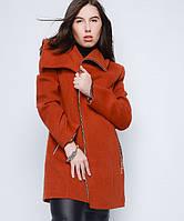 Демисезонное пальто женское, рыжий, батал, р.50-60