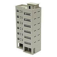 1/87 светло-серый Outland модели современный высотное здание бизнес-офис для песочницы