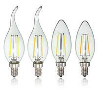 E12 2w початка Edison лампы накаливания LED свеча свет колбы лампы AC110V 1TopShop