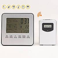 Беспроводной дисплей LCD метеостанции термометр часы тестер температуры и влажности