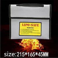 Новая поверхность огнестойкие взрывозащищенные Li-Po батареи безопасности защитный мешок 215 * 165 * 45мм
