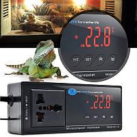 Цифровой LED термостат регулятор температуры для аквариума рептилии 110 / 220в