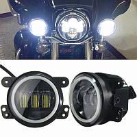 4-дюймовый 60w мотоцикл LED белый свет Harley Jeep Wrangler водонепроницаемая