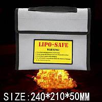 Новая поверхность огнестойкие взрывозащищенные Li-Po батареи безопасности защитный мешок 240 * 210 * 50мм