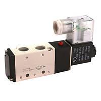 DC12V пневматический алюминиевый электрический электромагнитный воздушный клапан 5-ходовой 2 положения клапана 4v210