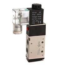 DC12V пневматический алюминиевый электрический электромагнитный воздушный клапан 5-ходовой 2 положения клапана 4v210 1TopShop, фото 2