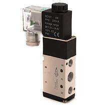 DC12V пневматический алюминиевый электрический электромагнитный воздушный клапан 5-ходовой 2 положения клапана 4v210 1TopShop, фото 3