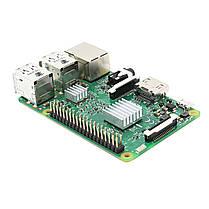 3 В 1 Raspberry Pi 3 Модель B Board + черный ABS Дело Shell Корпус + Алюминий Медь теплоотводом Kit 1TopShop, фото 2