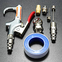 9pcs воздушный компрессор пыльник сжатого воздуха сопло версия выдувного пистолет комплект нагнетателя инструмент для очистки б