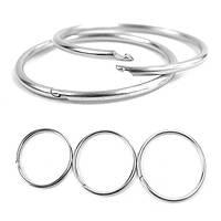 Открытый EDC кольцо для ключей пряжки металла круглая цепь быстрого освобождения зажимного кольца