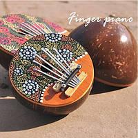 Калимба 7 ключ палец фортепиано окрашены скорлупы кокосового ореха Mbira likembe игрушечное пианино