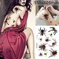 Хэллоуин 3d паук Пастер Хэллоуин макияж шрамы террор фестиваль стикер