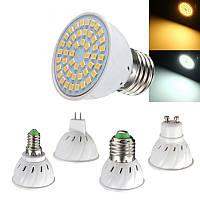 E27 E14 GU10 MR16 3W 48 SMD 2835 LED Чистая белая теплая белая лампочка с подсветкой AC110V AV220V