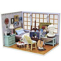 Cuteroom поделки дома куклы миниатюрный подарок деревянные ручной работы модель строительных комплектов день рождения прекрасное время