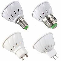 E27 E14 GU10 MR16 LED 3W 36 SMD 2835 LED Чистая белая теплая белая лампочка освещения AC110V AC220V
