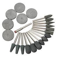 22 штук 3.1mm хвостовик резины полировки советы и комплект дисков для вращающегося инструмента