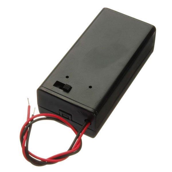 5pcs 9В батареи Держатель коробки пакет с вкл/выкл кнопка питания черный 1TopShop