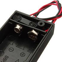 5pcs 9В батареи Держатель коробки пакет с вкл/выкл кнопка питания черный 1TopShop, фото 2