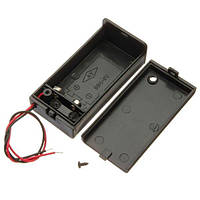 3шт 9В батареи Держатель коробки пакет с вкл/выкл кнопка питания черный