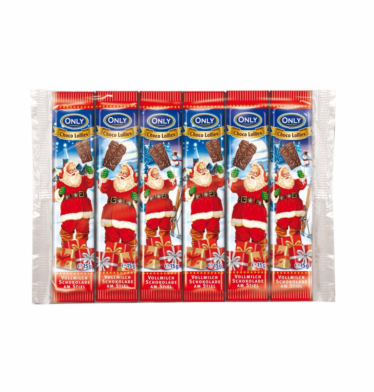 Шоколадный Николай на палочке Schoko Lollies Onli Австрия 15г