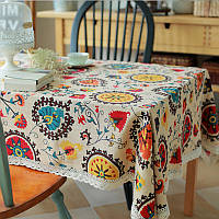 Солнечный цветок хлопка белье посуда коврик бегун стол скатерть бюро крышка изоляции чаши тепла площадку
